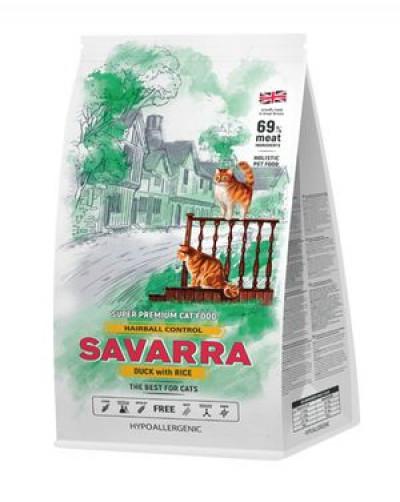 SAVARRA Adult Cat Hairball Сухой корм для взрослых кошек, препятствующий образованию комочков шерсти в желудке 2кг Утка рис