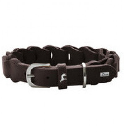 -Hunter ошейник для собак Solid Education Chain 50/ 3.5см, кож, коричневый арт. 68634