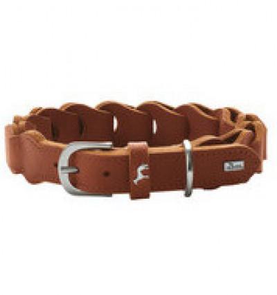 -Hunter ошейник для собак Solid Education Chain 50/ 3.5см, натуральная кожа, коньяк арт.68631