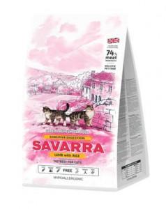 SAVARRA Sensitive Cat Сухой корм для взрослых кошек с чувствительным пищеварением 2кг Ягненок рис
