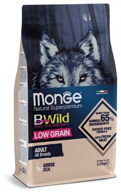 Monge Dog BWild LOW GRAIN низкозерновой корм из мяса гуся для взрослых собак всех пород 2.5 кг арт.70012102