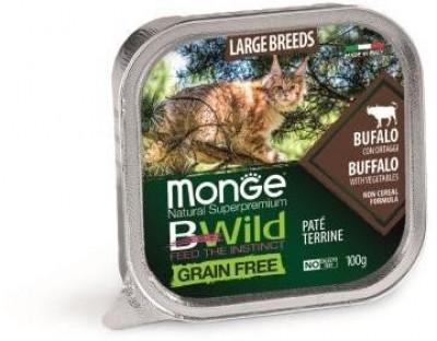 Cat Bwild Grain free консервы для кошек мясо буйвола с овощами 100 г, арт.70012850