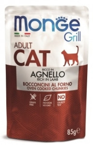 Monge Cat Grill Pouch Паучи для взрослых кошек НОВОЗЕЛАНДСКИЙ ЯГНЕНОК 85г. арт. 70013628