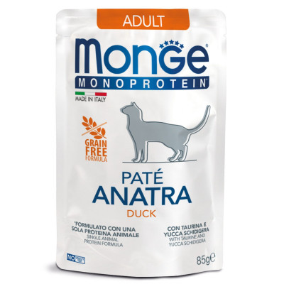 Monge Cat Monoprotein Pouch CAT ADULT Duck паучи для кошек с уткой85 гр арт.70013703