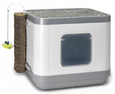 Moderna Cat Concept 4 в 1 (туалет, лежанка, дразнилка, когтеточка) 47x39x43h Артикул: 7012091
