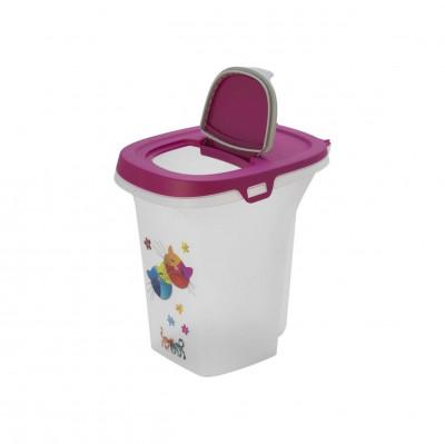 Moderna Контейнер для хранения корма Trendy Story Друзья Навсегда цвет ярко-розовый 6 литров арт.7013289