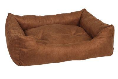 PRIDE Лежак Ранчо  цвет коричневый замша 70 х 60 х 23 см арт. 72557