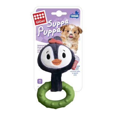 -GiGwi Suppa Puppa игрушка для щенков Пингвин с пищалкой 15 см арт.74795