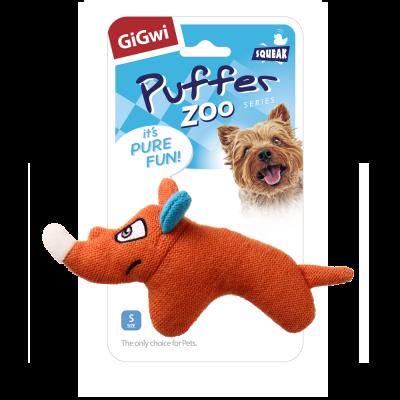 -GiGwi Puffer Zoo Игрушка для собак Носорог с пищалкой арт.78419