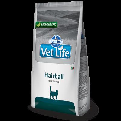 Фармина (FARMINA Vet Life Hairball) корм для кошек снижает образование и способствует выведению шерстяных комочков из ЖКТ 400 г