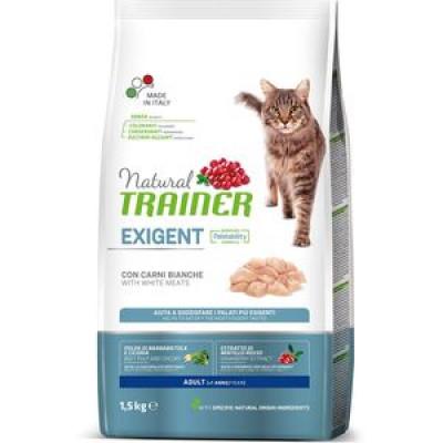 -Trainer Сухой корм Natural Exigent Cat для привередливых кошек с говядиной и свежей курицей 1,5кг
