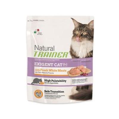 -Trainer Сухой корм Natural Exigent Cat для привередливых кошек со свежим белым мясом 300гр