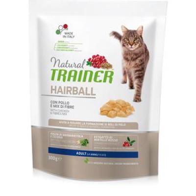 -Trainer Сухой корм Solution Hairball для взрослых кошек для выведения шерсти 300гр