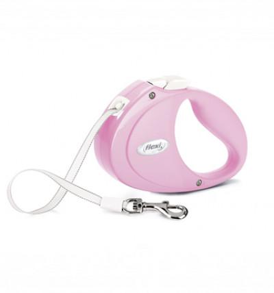 -flexi рулетка Puppy (до 12 кг) 2 м лента розовая арт.98044506
