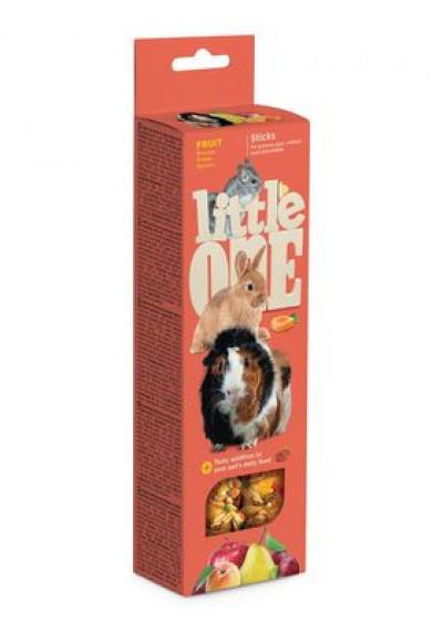 -Little One (Литтл Он) Палочки для морских свинок, кроликов и шиншил с фруктами 2х60