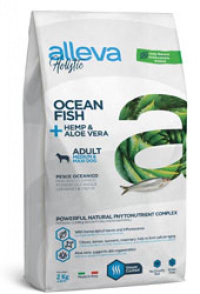 Alleva Holistic Adult Ocean Fish Medium/maxi беззерновой сухой корм для взрослых собак средних и крупных пород с океанической рыбой, алое вера 2 кг арт.P00233