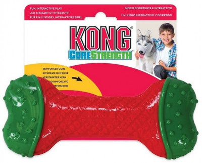 -KONG Holiday игрушка для собак CoreStrength Косточка средняя 14 см арт. H18D118E