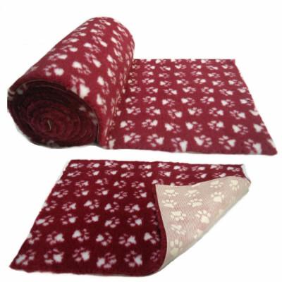 ProFleece коврик меховой 1х1,6 м бордовый/белый арт.PF002