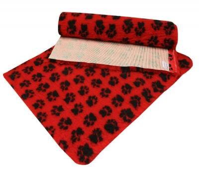 ProFleece коврик меховой 1х1,6 м красный/черный арт.PF008