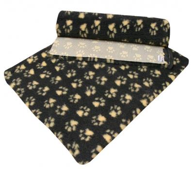 ProFleece коврик меховой 1х1,6 м угольный/желтый арт.PF010