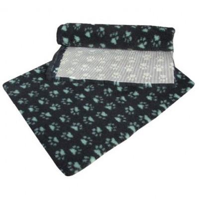 ProFleece коврик меховой 1х1,6 м угольный/голубой арт.PF011