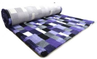 ProFleece коврик меховой В Клетку 1х1,6 м фиолетовый/угольный арт: PF013