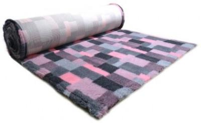 ProFleece коврик меховой В Клетку 1х1,6 м розовый/угольный арт.: PF014
