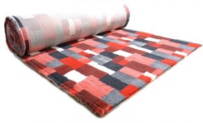 ProFleece коврик меховой В Клетку 1х1,6 м красный/угольный арт: PF015