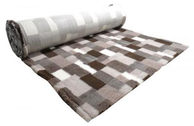 ProFleece коврик меховой В Клетку 1х1,6 м лиловый/шоколадный арт.PF016