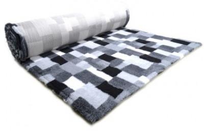 ProFleece коврик меховой В Клетку 1х1,6 м черный/белый арт: PF017