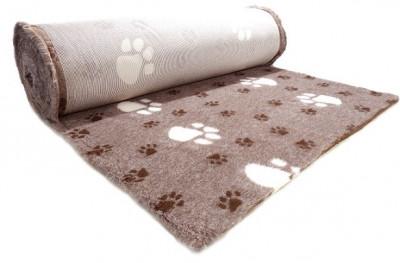 ProFleece коврик меховой Большая Лапа 1х1,6 м лиловый/шоколадный арт. PF018