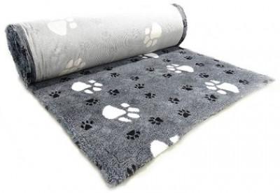 ProFleece коврик меховой Большая Лапа 1х1,6 м черный/белый арт: PF019