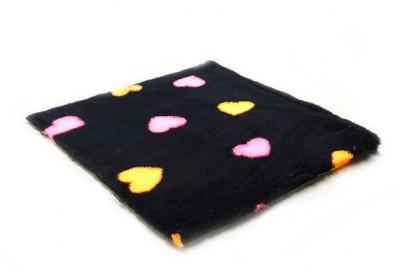 ProFleece коврик меховой Сердце 1х1,6 м черный/оранжевый/розовый арт. PF022