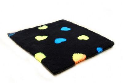 ProFleece коврик меховой Сердце 1х1,6 м черный/синий/желтый арт.PF023