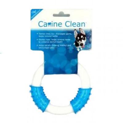 CanineClean игрушка для собак Кольцо синтетическая резина/нейлон 25 см с ароматом мяты, голубой арт.WB15324B
