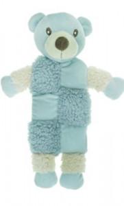 AROMADOG Игрушка для собак Мишка 20 см с 3 пищалками голубой арт: WB16959-1