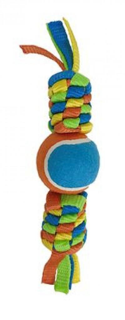 Petpark игрушка для собак Плетенка с теннисным мячом 6 см арт.WB19410