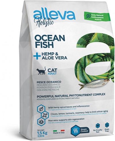 Alleva Holistic Ocean Fish Adult Cat беззерновой сухой корм для взрослых кошек с океанической рыбой 400 г арт.P0026