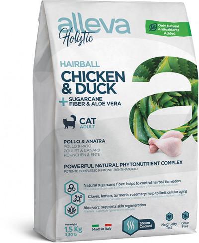 Alleva Holistic Chicken & Duck Cat Hairball беззерновой сухой корм для вывода шерсти для кошек с курицей и уткой 400 гр. арт.P00272H