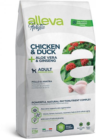 Alleva Holistic Chicken & Duck Adult Medium беззерновой сухой корм для взрослых собак средних пород с курицей и уткой 2 кг арт.P00230