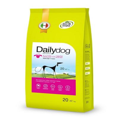 Дэйлидог Эдалт Ладж Брид корм для собак с ягненком и рисом / Dailydog Adult Large Breed Lamb and Rice 20 кг