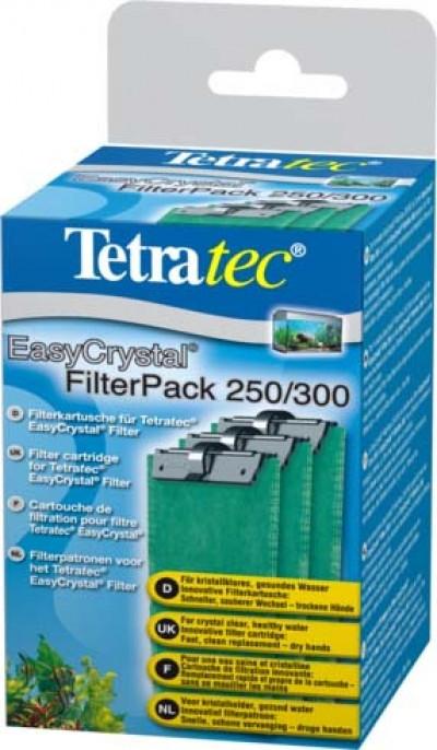 Tetra EC 250/300C фильтрующие картриджи без угля для внутренних фильтров EasyCrystal 250/300 3 шт.