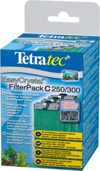 Tetra EC 250/300 фильтрующие картриджи с углем для внутренних фильтров EasyCrystal 250/300 3 шт.
