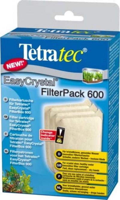 Tetra EC 600 фильтрующие картриджи без угля для внутреннего фильтра EasyCrystal 600 3 шт.