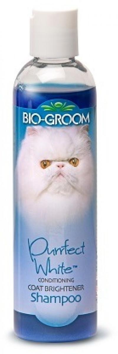 Bio-Groom Purrfect White Shampoo кондиционирующий шампунь для кошек белого и светлых окрасов 237 мл