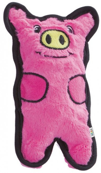 -OH игрушка для собак Invinc Mini Свинка без наполнителя с пищалками 12 см арт.32013