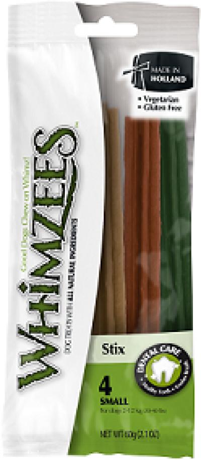 -Whimzees Зубная палочка для собак S 12 см 4 шт в блистере
