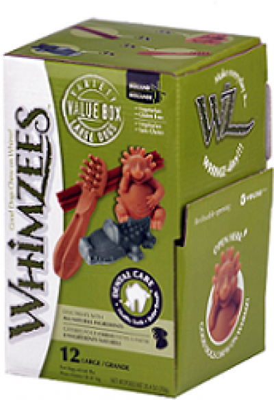 -Whimzees МИКС (палочки/ щетки/ крокодильчики/ ежики) для собак L 12 шт в дисплее