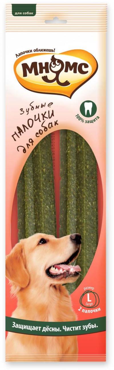 Мнямс Зубные палочки для собак размер L, 2 шт. х 85 г, 23,5 см