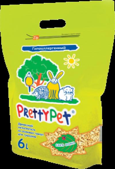 PrettyCat наполнитель для грызунов и птиц ОСИНОВЫЙ 6 л/2 кг